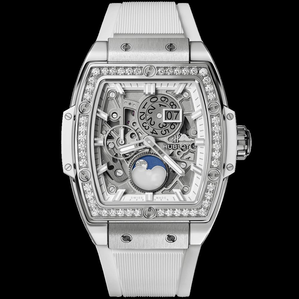 ウブロ スピリット オブ ビッグ・バン                                                              ムーンフェイズ チタニウム ホワイト ダイヤモンド