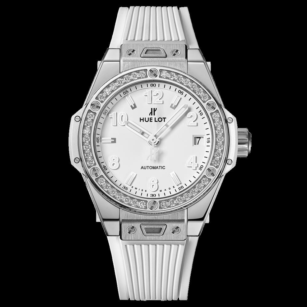 ウブロ ビッグ・バン ワンクリック                                                              スチール ホワイト ダイヤモンド