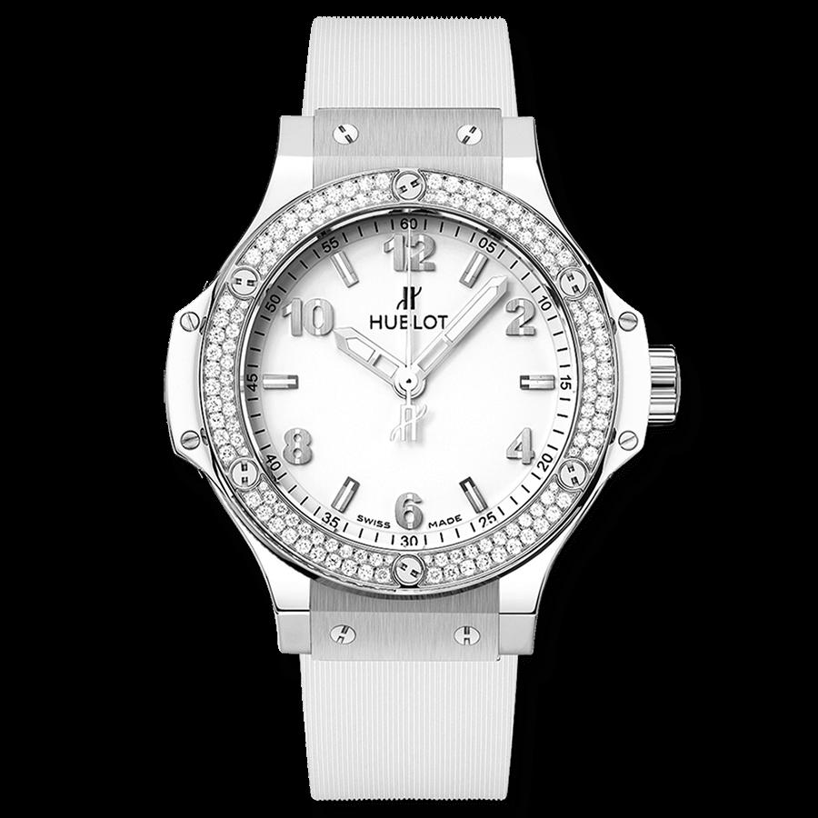 ウブロ ビッグ・バン スチールホワイト                                                              ダイヤモンド
