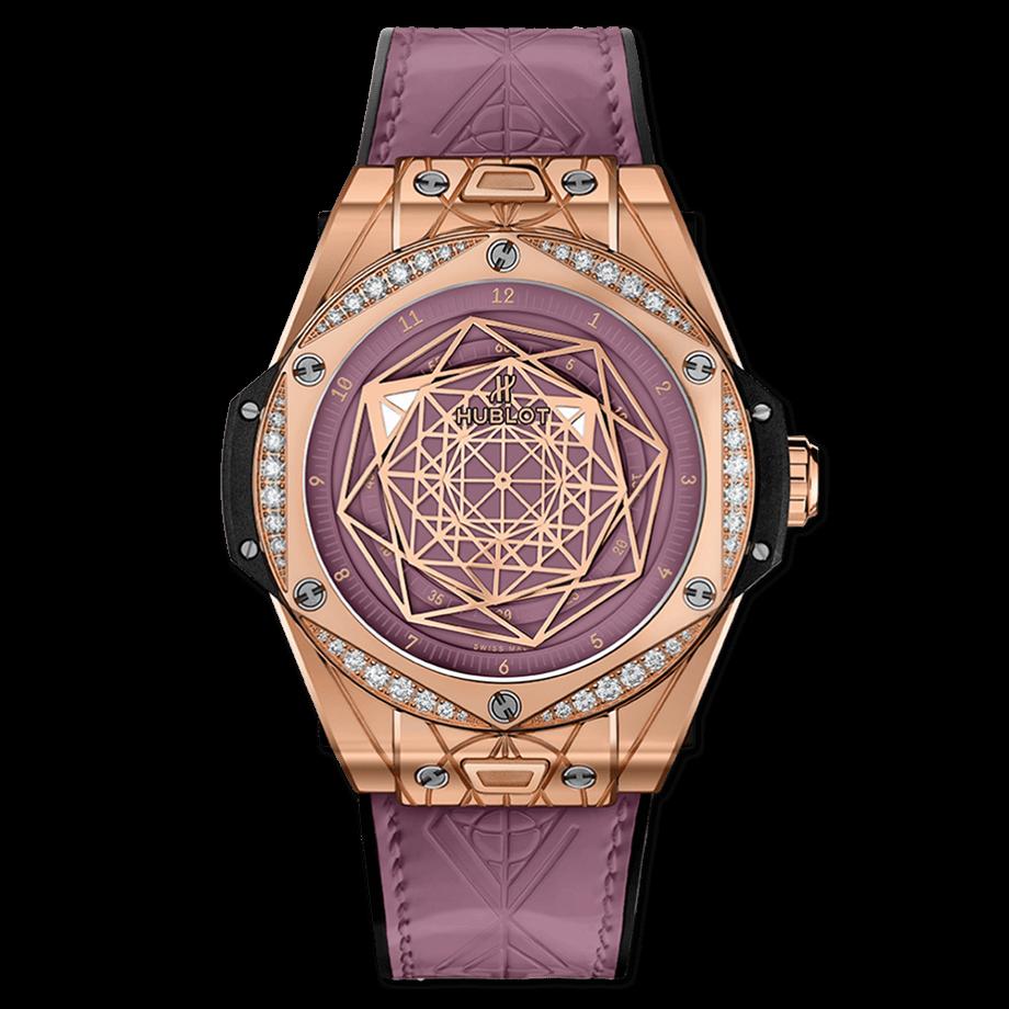 ウブロ ビッグ・バン ワンクリック サンブルー                                                              キングゴールド ピンク ダイヤモンド
