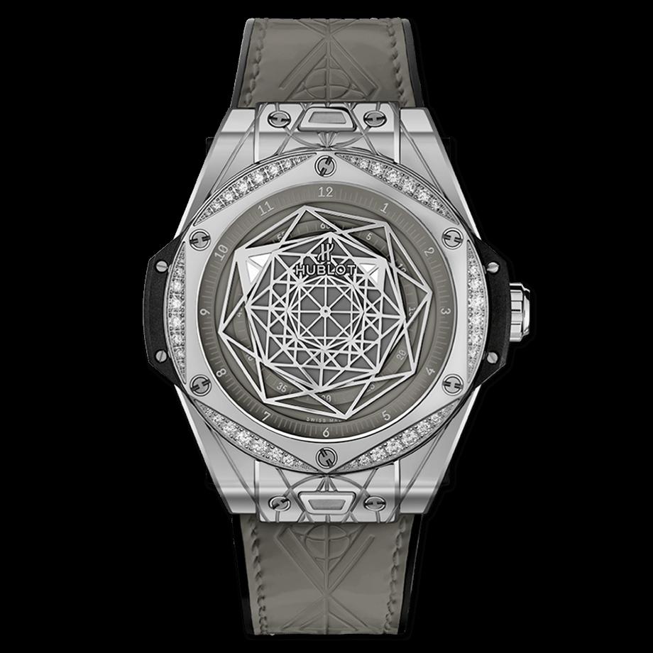 ウブロ ビッグ・バン ワンクリック サンブルー                                                                          スチール グレー ダイヤモンド