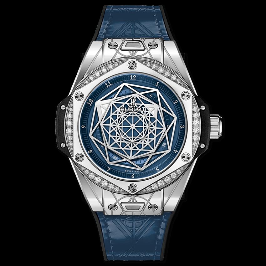 ウブロ ビッグ・バン ワンクリック サンブルー                                                              スチール ブルー ダイヤモンド