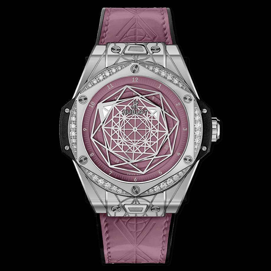 ウブロ ビッグ・バン ワンクリック サンブルー                                                                          スチール ピンク ダイヤモンド