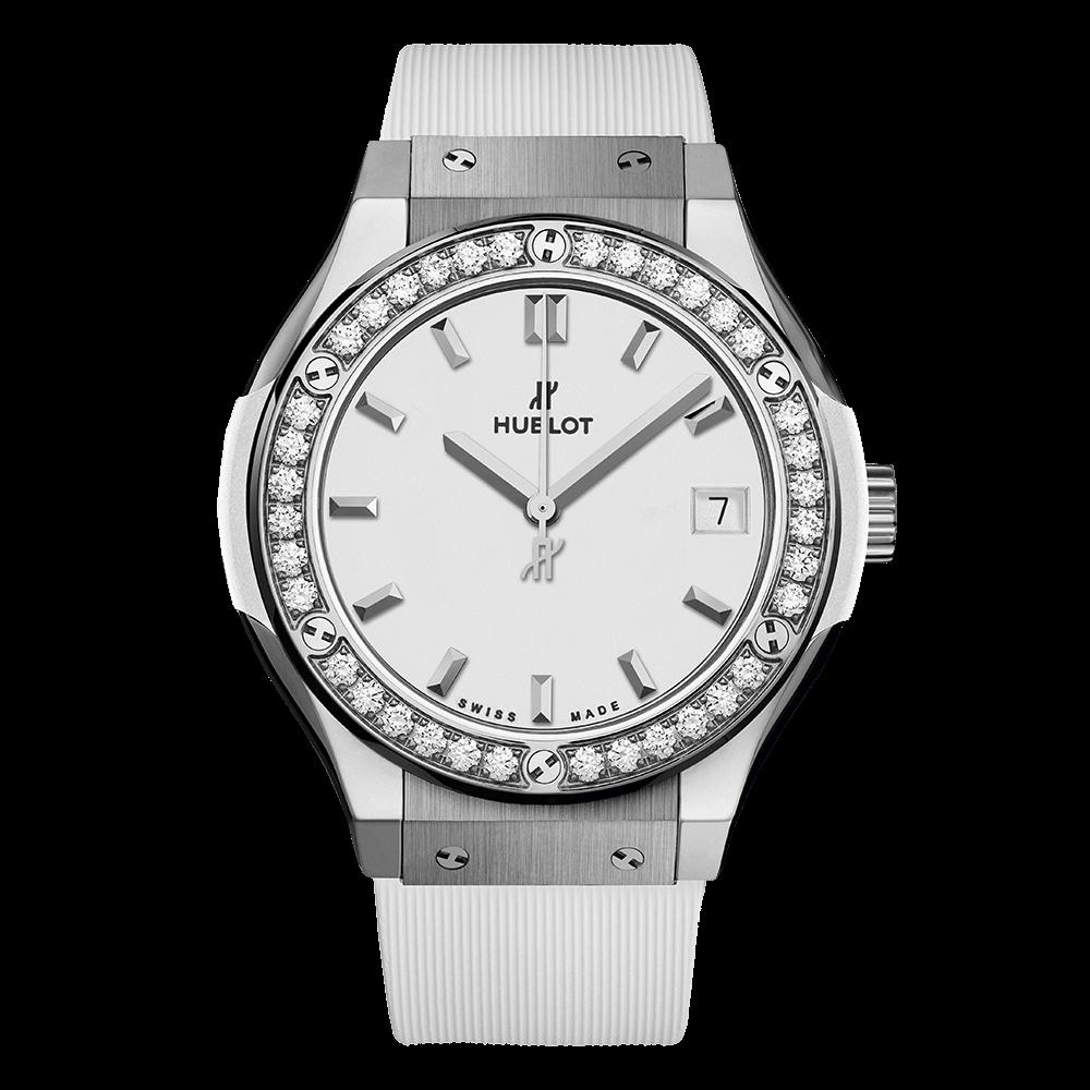 ウブロ クラシック・フュージョン                                                              チタニウム ホワイト ダイヤモンド