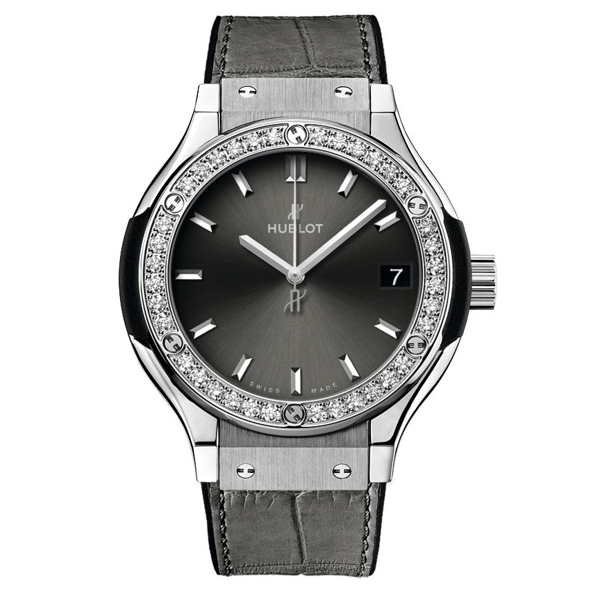 ウブロ クラシック・フュージョン                                                              チタニウム レーシンググレー ダイヤモンド