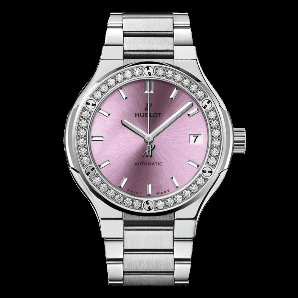 ウブロ クラシック・フュージョン チタニウム                                                              ピンク ダイヤモンド ブレスレット
