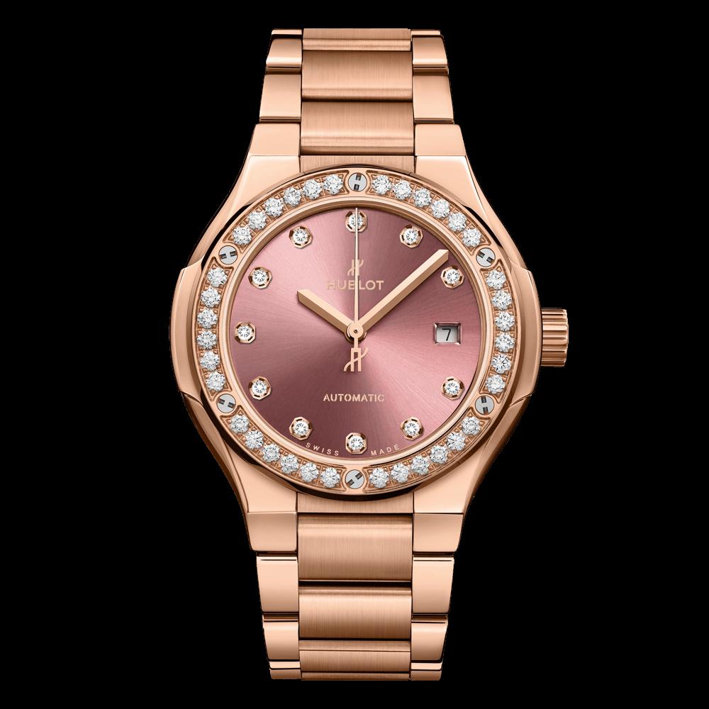 ウブロ クラシック・フュージョン キングゴールド                                                              ピンク ダイヤモンド ブレスレット
