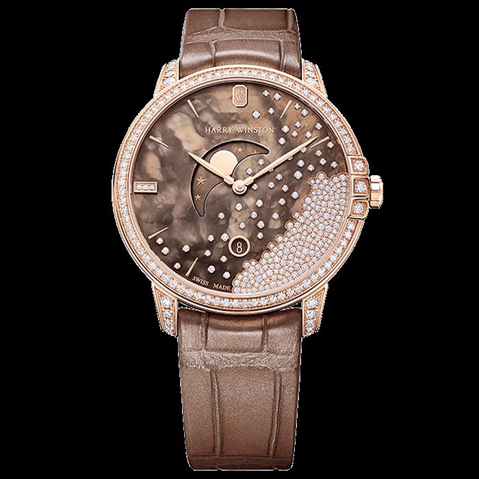 ハリー・ウィンストン HW ミッドナイトチョコレート                                                              ダイヤモンド・ドロップ 39mm