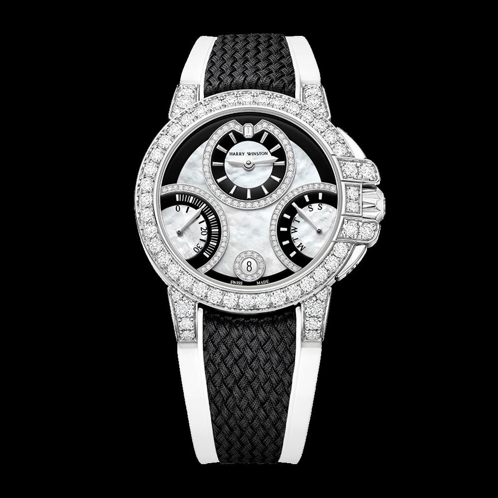 ハリー・ウィンストン HW オーシャン バイレトログラード                                                              ブラック & ホワイト オートマティック 36mm