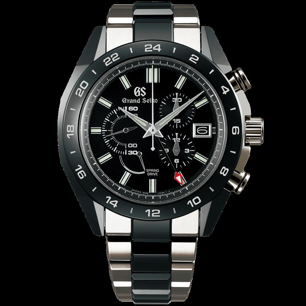 グランドセイコー マスターショップ限定モデル ブラックセラミックスコレクション                                                              スプリングドライブ クロノグラフ GMT